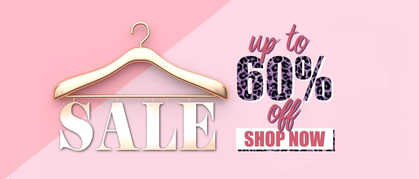 Sale up to 60% discount