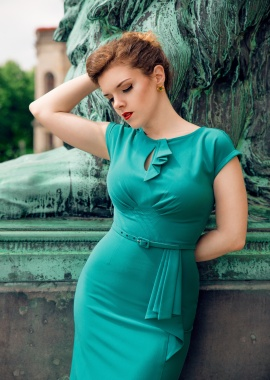 Stop Staring 40s Timeless Green Dress 100 32 20581 20170516 0013