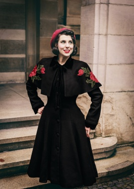 Collectif Clothing Claudia Coat and Cape in Black 21766 20170614 0018 co