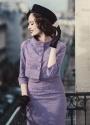 Lindy Bop Maybelle Amethyst Lace Pencil Dress 100 22 22906 20170403 0019