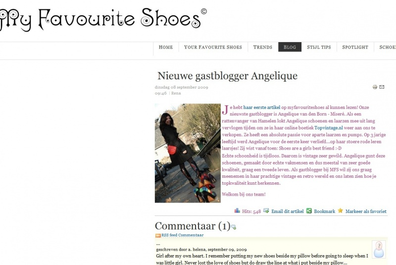 Guestblogger My Favourite Shoes