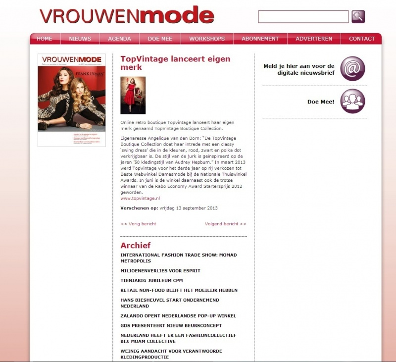 www vakbladvrouwenmode nl   13 september   TopVintage Boutique Collection