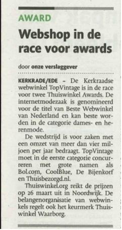 Limburg Dagblad Maart 2015 Thuiswinkel