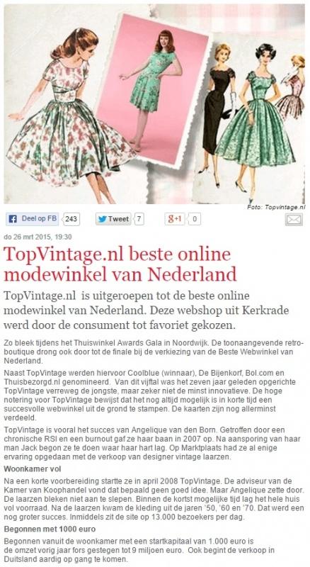 Telegraaf 27 3 2015 Thuiswinkel #1