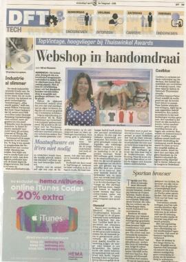 Telegraaf 1 April Angelique, Thuiswinkel Awards