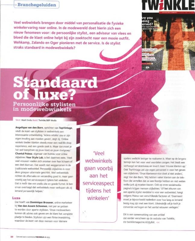 Twinkle magazine   stylisten   juni 2015
