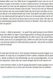 September 2015   Angelique   Nederlands Dagblad Interview 2