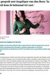 September 2015   Angelique   Nederlands Dagblad Interview 1