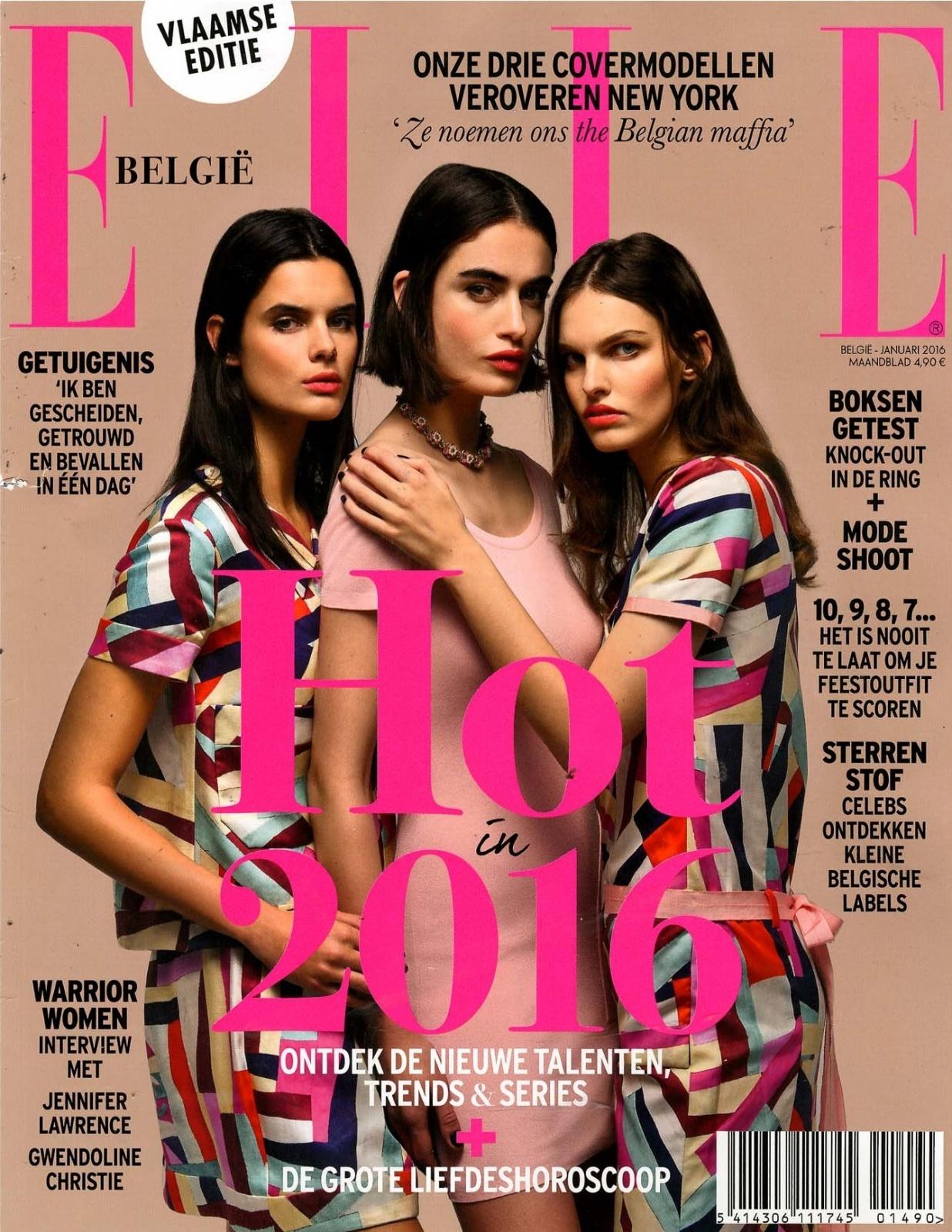 December 2015   ELLE   cover