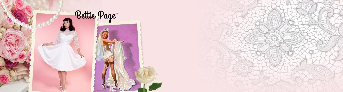 bettie page bridal merkbanner