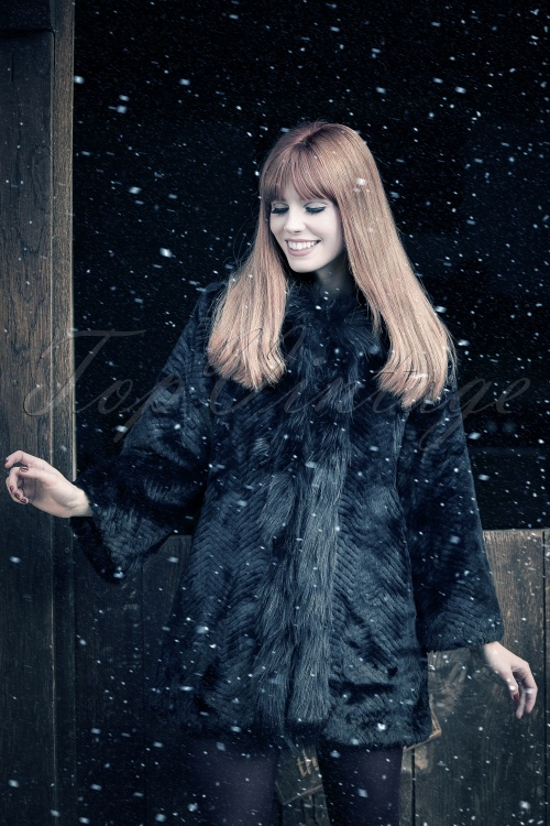 Abricot Brandtford Faux Fur Black Coat 152 10 19504 20160822 0009W ModelfotoW Snow