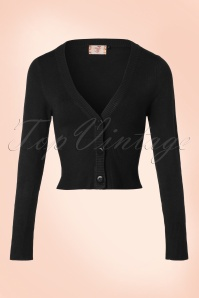Banned Retro 50s Lets Go Dancing Cardigan in Black