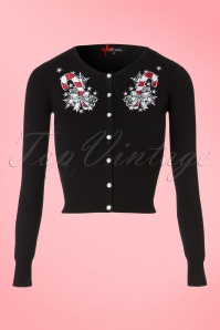 50s Blitzen Cardigan in Black