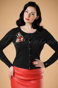 50s Jo Vegas Vamp Cardigan in Black