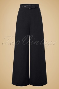 40s Gertrude Trousers in Black
