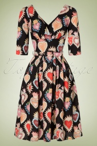 Victory Parade Heart Print Semi swing dress 102 14 20050 20161010 0004W