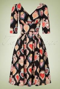 Victory Parade Heart Print Semi swing dress 102 14 20050 20161010 0004W