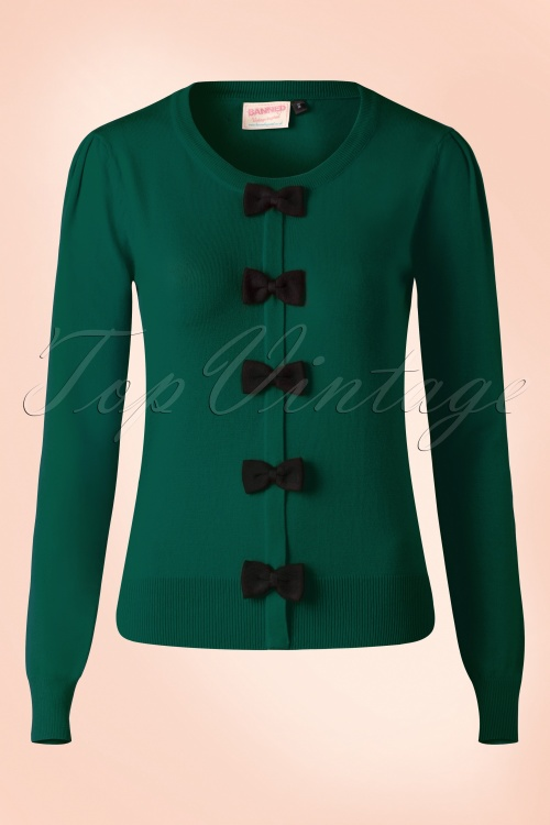 Banned Privilege Jumper Green Black Bows 113 40 16358 20150814 007W