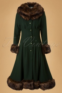 Collectif Clothing Pearl Coat Green 14396 20140616 008W