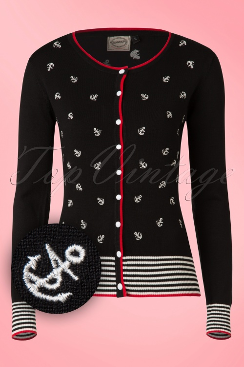 Banned Close Call Cardigan Black Red White 140 14 16350 20150904 007W2