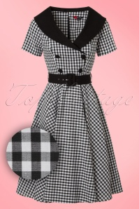 Bunny Bridget 50s Black White Checkered Dress 102 14 20036 20161103 0015W1