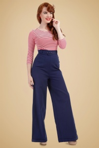 Collectif Clothing Gertrude Plain Trousers 131 31 20012 20161114 0011