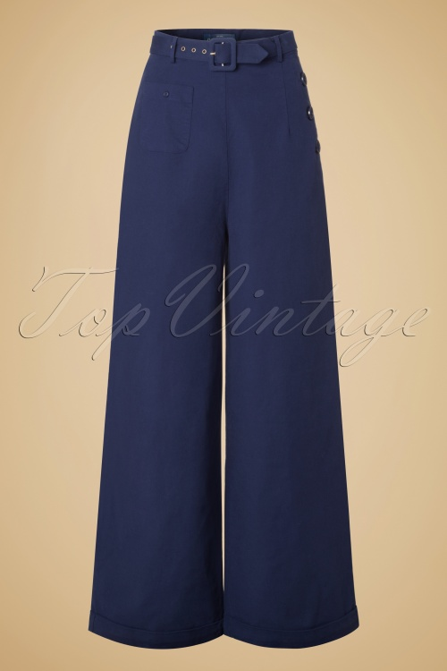 Collectif Clothing Gertrude Plain Trousers 131 31 20012 20161114 0002w