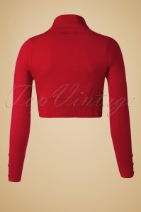 Collectif Clothing Jean Knitted Bolero Red 10360 2