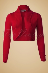 Collectif Clothing Jean Knitted Bolero Red 10360 1