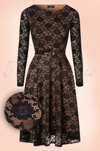 Vintage Chic 50s Sylvia Lace Pencil Dress 102 10 19621 20161010 0003W1