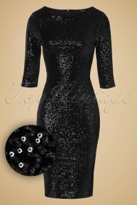 Vintage Chic Sequins pencil dress Black 100 31 14439 11052015 020w1