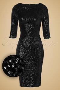 Vintage Chic Sequins pencil dress Black 100 31 14439 11052015 020w1