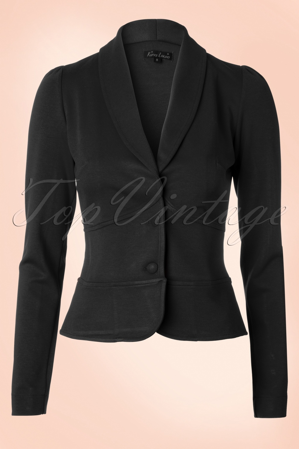 New 1940s Style Coats and Jackets for Sale Smoking Jacket Milano in Black £95.50 AT vintagedancer.com