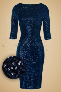 Vintage Chic Sequins pencil dress navy 100 31 14440 20141029 020wv