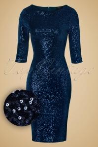 Vintage Chic Sequins pencil dress navy 100 31 14440 20141029 020wv