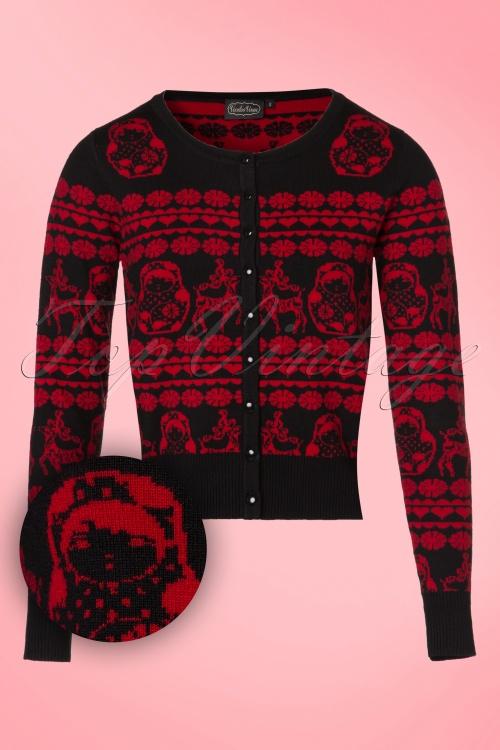 Vixen Tess Black Red Cardigan 140 14 19466 20160914 0002WV