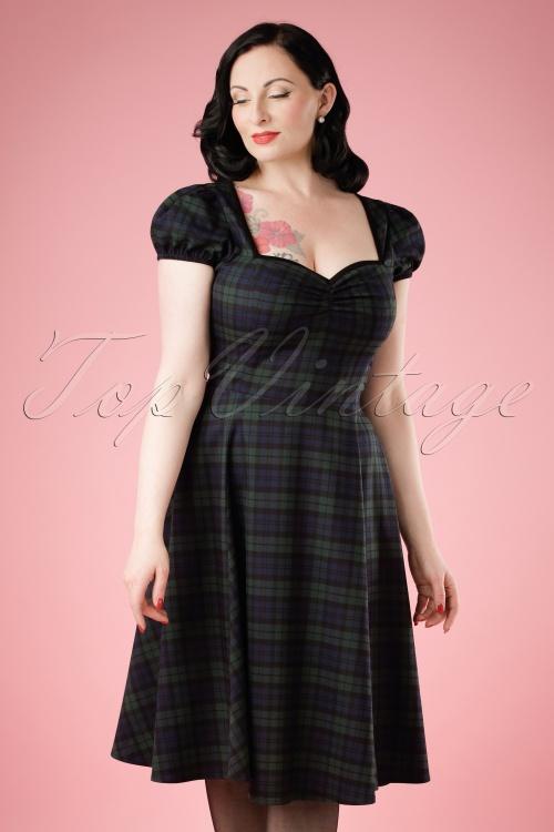 Collectif Clothing Mimi Blackwatch Doll Dress 18883 20160601 model01cw
