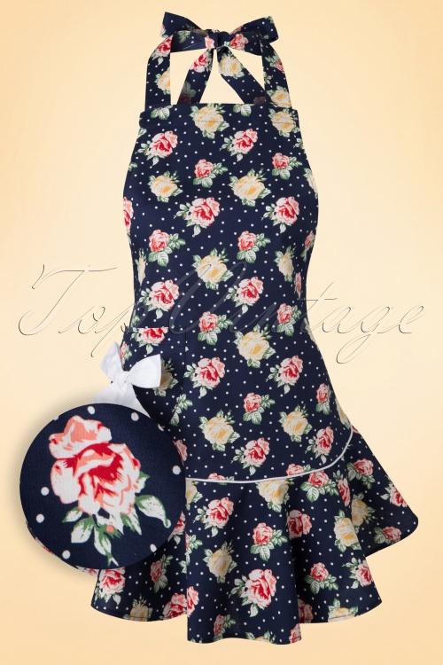 Bunny Floral Blue Polkadot Apron 510 39 18121 20160121 0005W2