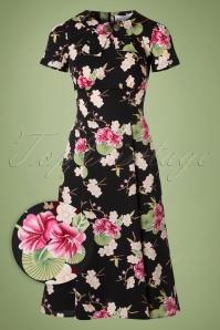 Bunny Freya Floral Dress in Black 102 14 19547 20160909 0007WV