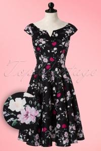Bunny Belinda Black Floral Swing Dress 102 14 19591 20160902 0016W1V