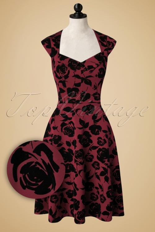 Celia Rose Rose Flock in Teal Swing Dress 102 39 17042 20151103 0040pop
