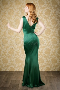 Collectif Clothing Ingrid Fishtail Dress in Green 18893 20160601 model02bewerktw
