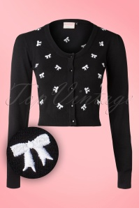 Banned Black White Sweet Emotions Bow Cardigan 140 14 16352 20151014 027W2
