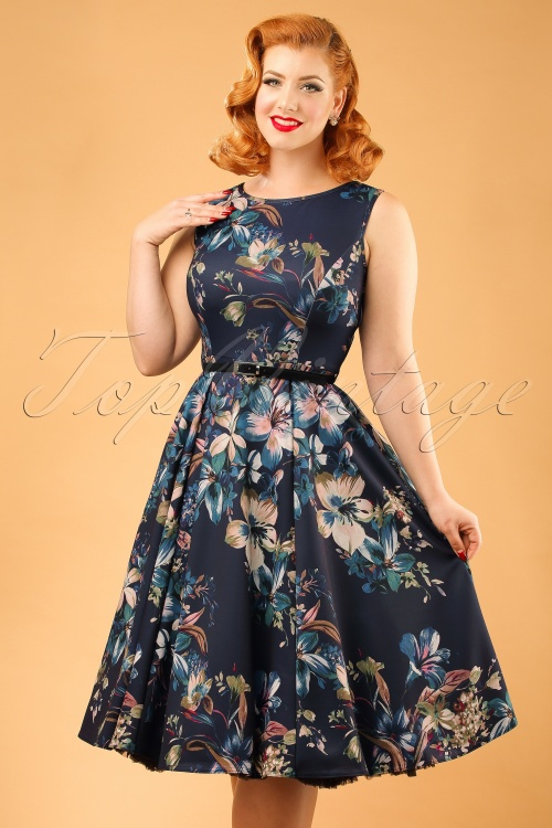 Lady V Lily Blue Dress 102 39 20095 20161010 0011W ModelfotoW
