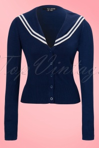 Landlubber Cardigan Sailor in navy