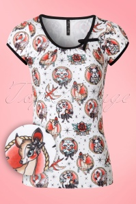 Sassy Sally Rockabilly Tattoo Top  111 59 18418 20160413 0010V