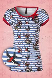 Sassy Sally Anchors and Swallows T Shirt 111 39 16452 20150911 001W2