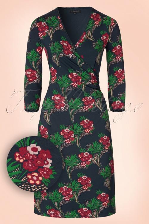King Louie Floral Nouveau Cross Dress in Mist 19026 20160712 0002W1