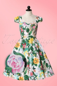 Hearts and Roses White Floral Swing Dress 102 59 18409 20160509 0007WVDoll