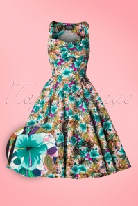 Hearts and Roses Tropical Floral Swing Dress 102 59 18406 20160426 0004W1